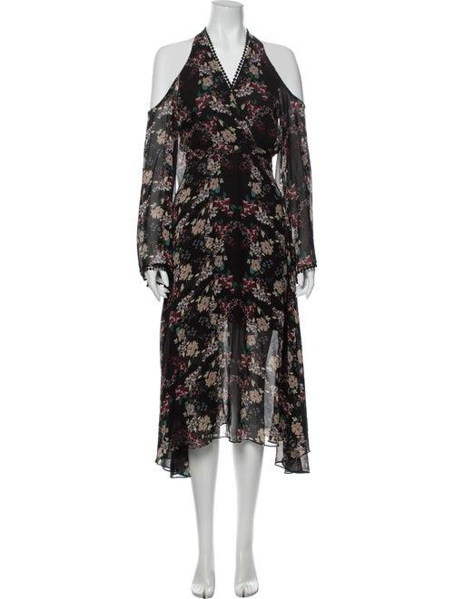 Nicholas Silk Long Dress Black