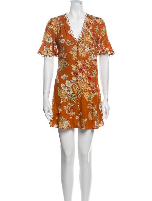 Nicholas Silk Mini Dress Orange