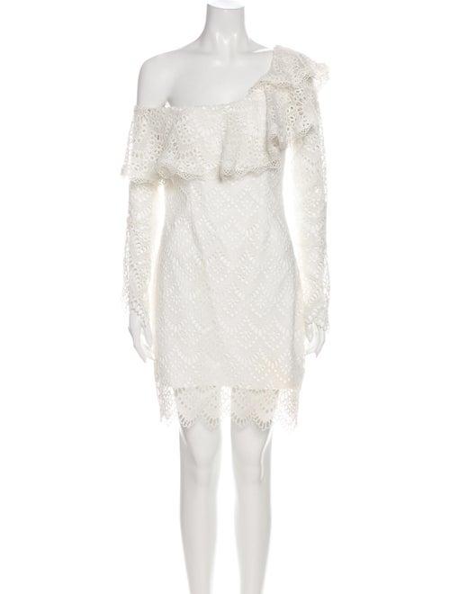 Nicholas One-Shoulder Mini Dress White