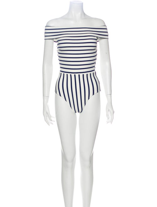 Solid & Striped Striped One-Piece White