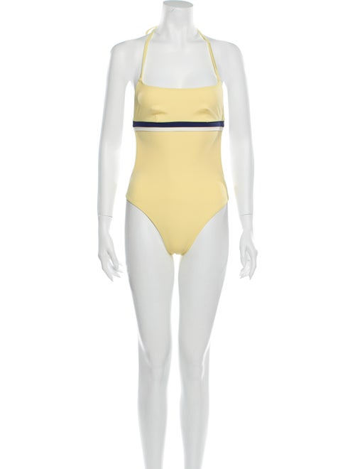 Solid & Striped One-Piece w/ Tags Yellow