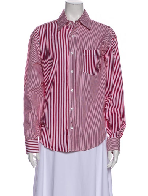 Solid & Striped Striped Long Sleeve Button-Up Top