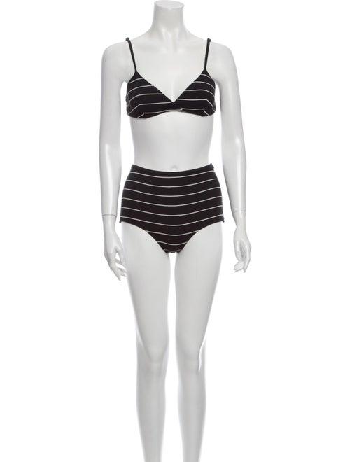 Solid & Striped Striped Bikini Black