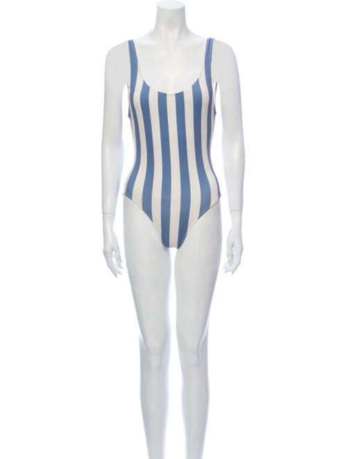 Solid & Striped Striped One-Piece Blue