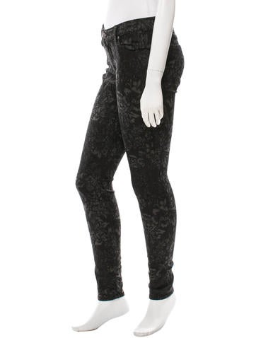 Patterned Skinny Jeans w/ Tags