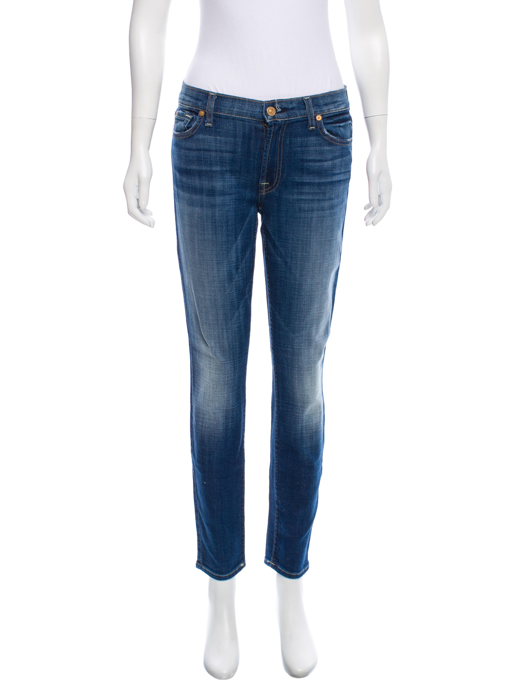 7 for all Mankind Mid-Rise Skinny Jeans w/ Tags Low Price Get To Buy For Sale Clearance Wide Range Of Cheap Sale Find Great Aaa Quality XX7GE