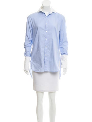 palmer//harding Striped Button-Up Top None