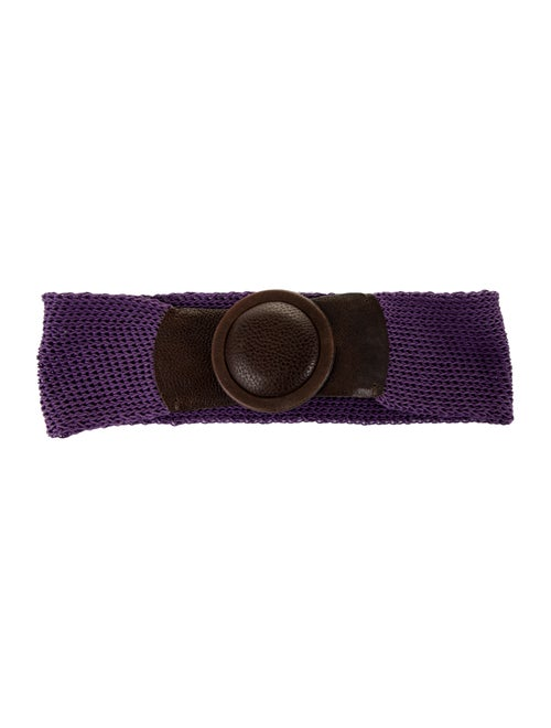 Rene Lezard Knit Waist Belt Purple