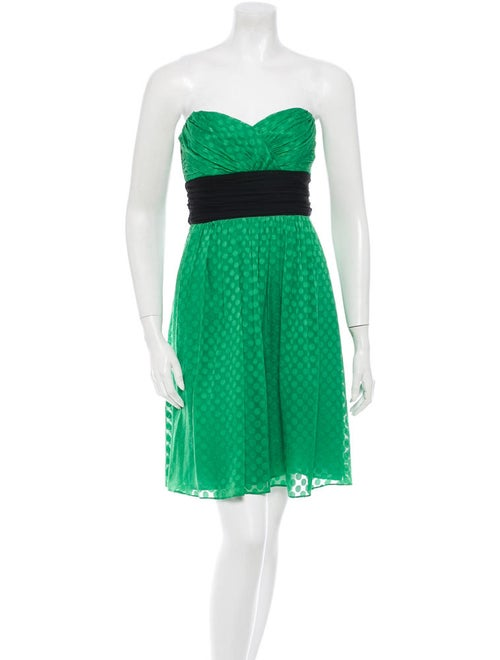 Shoshanna Silk Dress Green