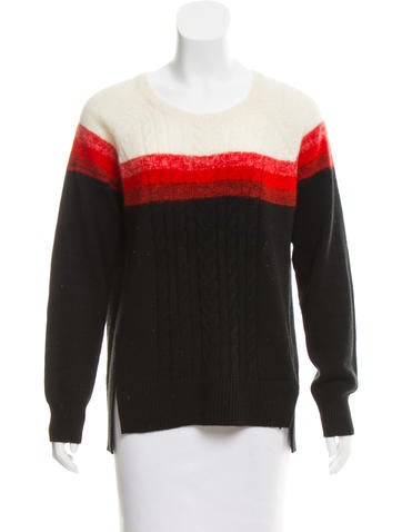 Shoshanna Contrast Knit Sweater None