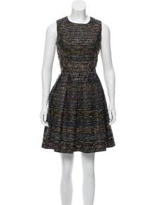 3d473e952a3 Shoshanna. Sleeveless Metallic Dress