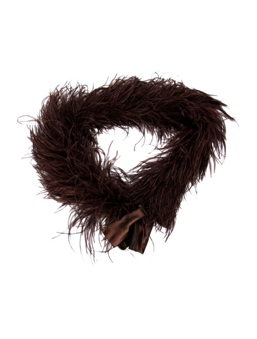 Annabelle Solid Feather Boa Brown