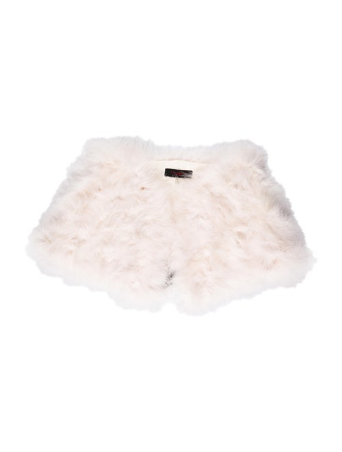 Annabelle Marabou Feather Capelet Pink