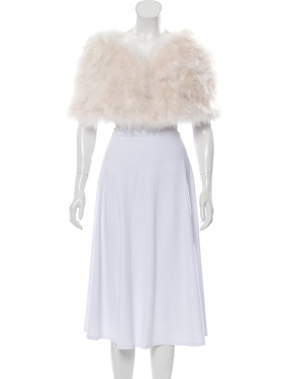 Annabelle Marabou Feather Capelet Pink - image 3