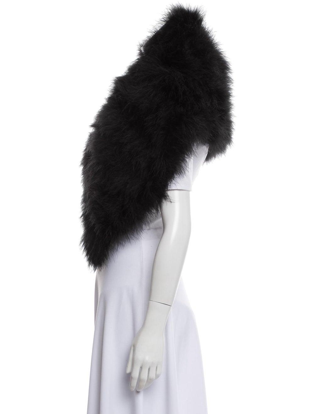 Annabelle Marabou Feather Shrug Black - image 2
