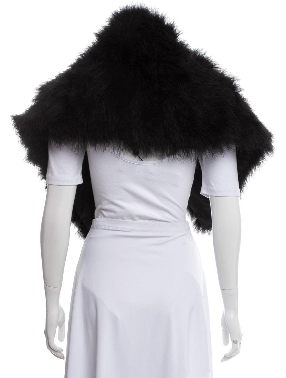 Annabelle Marabou Feather Shrug Black - image 3