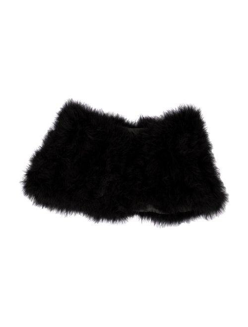 Annabelle Marabou Feather Shrug Black