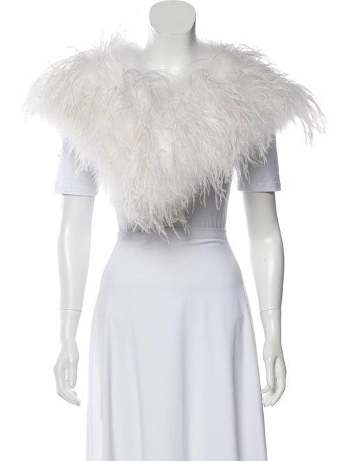 Annabelle Marabou Feather shrug White
