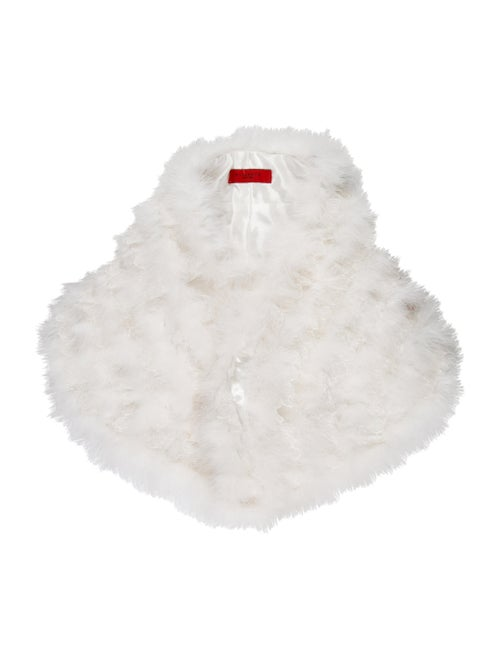 Annabelle Lace-Trimmed Feather Capelet