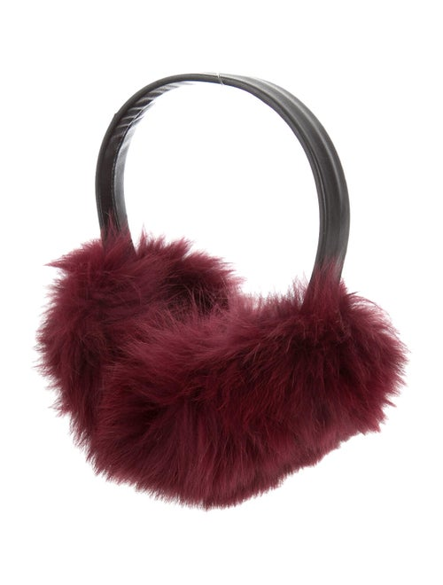 Annabelle Fox Fur Earmuffs Black