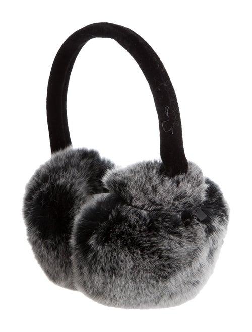 Annabelle Fur Velvet-Trimmed Earmuffs Grey