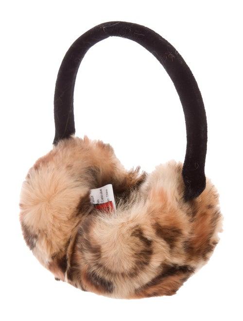 Annabelle Fur Print Earmuffs w/ Tags multicolor