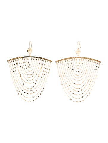 gold earrings cascade