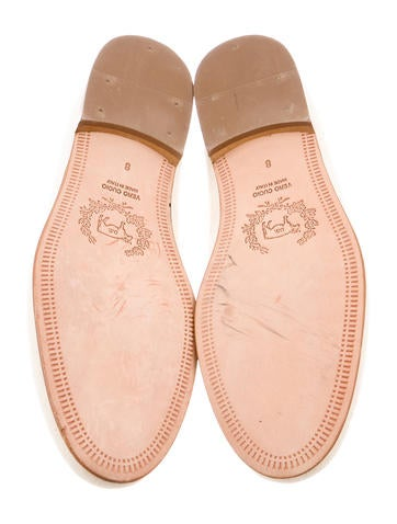 Embroidered Canvas Loafers