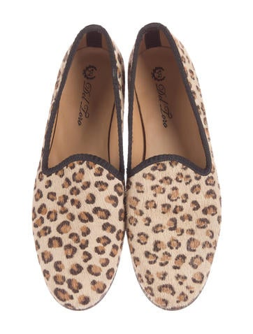 Ponyhair Leopard Print Loafers