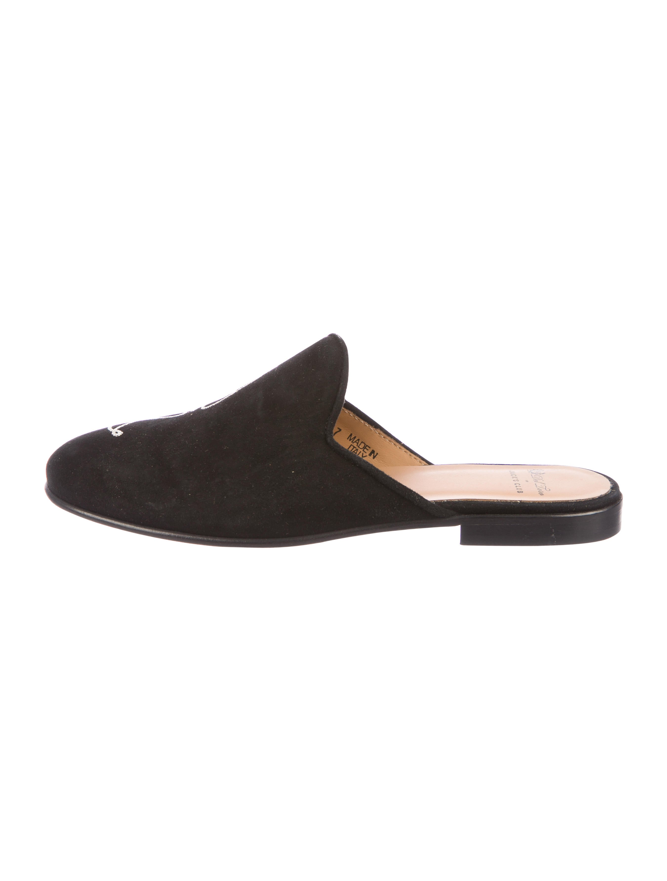 Del Toro Suede Round-Toe Mules collections cheap online sale release dates for cheap sale online discount under $60 LvSogcpuk
