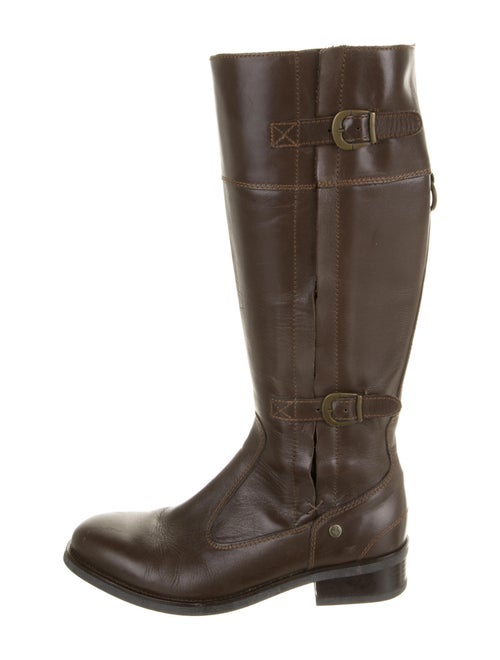 Aigle Leather Riding Boots Brown
