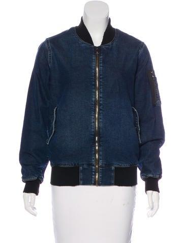 Hudson Distressed Denim Jacket None
