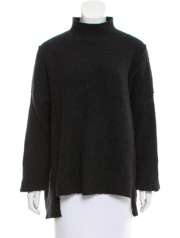 Line Oversize Knit Sweater None