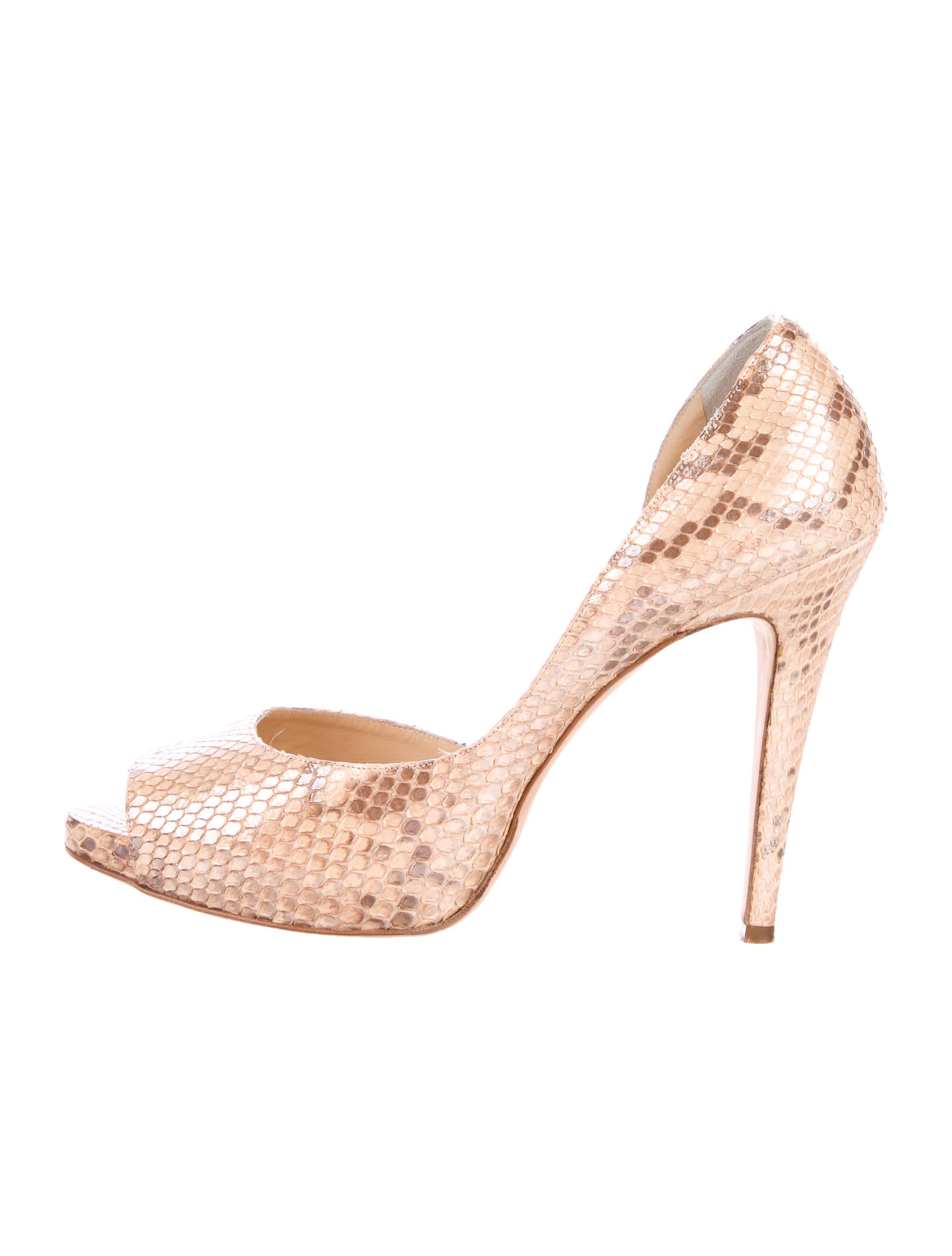 cheap nicekicks outlet newest Rodo Snakeskin Peep-Toe Pumps free shipping best store to get NPy64
