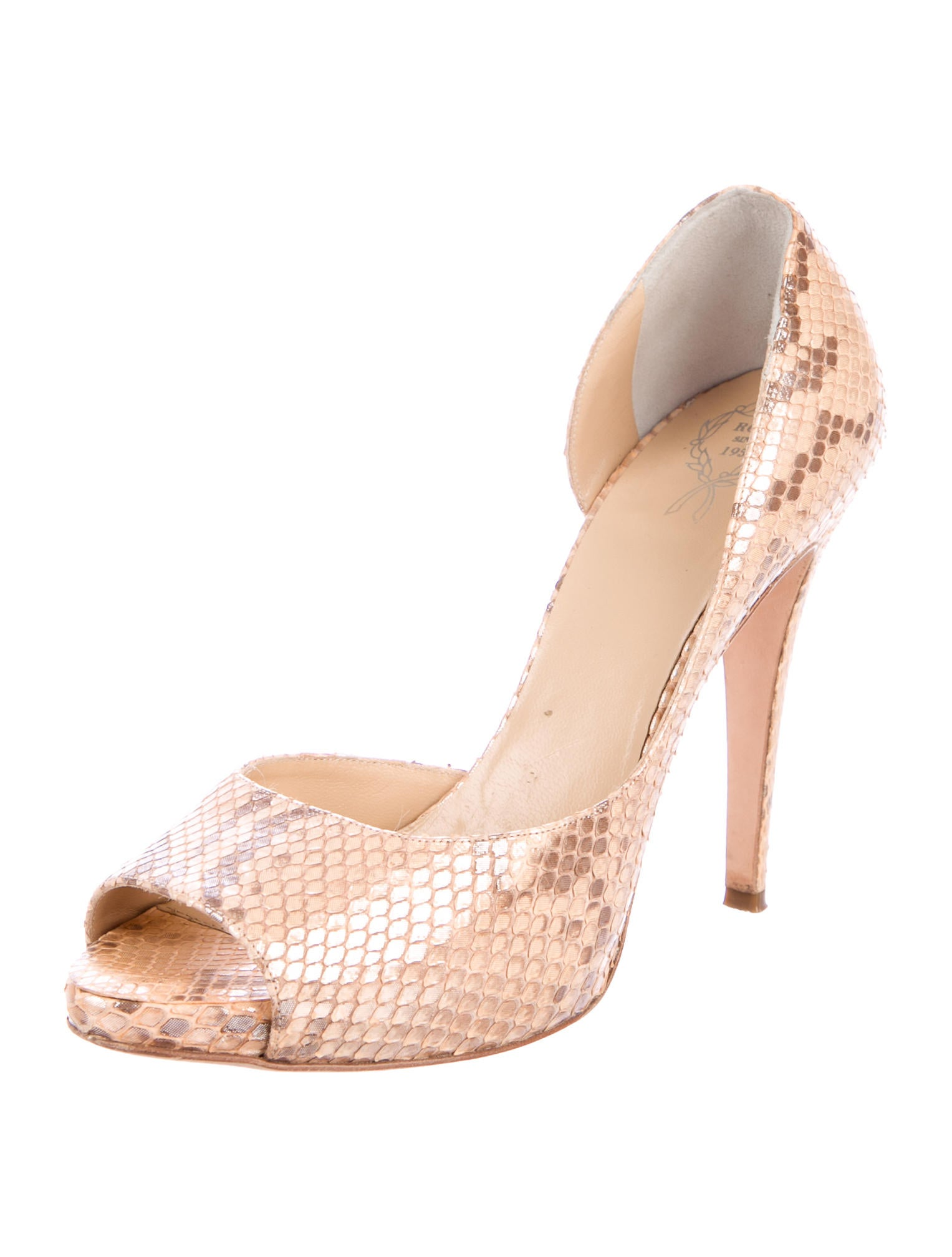 Rodo Snakeskin Peep-Toe Pumps outlet clearance store outlet fast delivery discount sale online outlet cheap prices footlocker pictures online BGgpFhVu