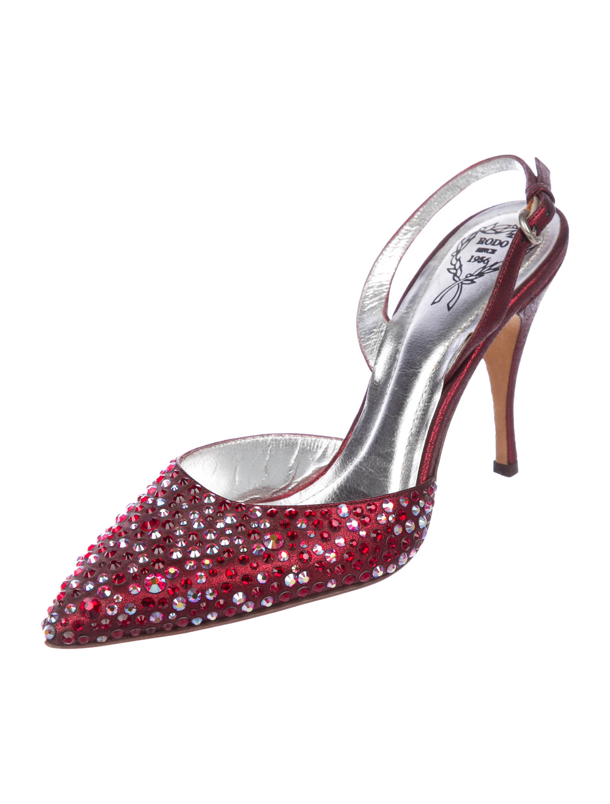 best prices online free shipping Cheapest Rodo Suede Embellished Pumps 8BVC02WN