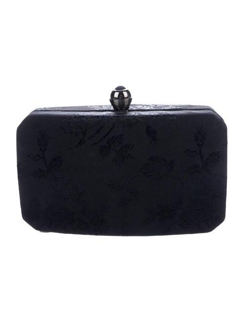 Rodo Floral Box Clutch Black