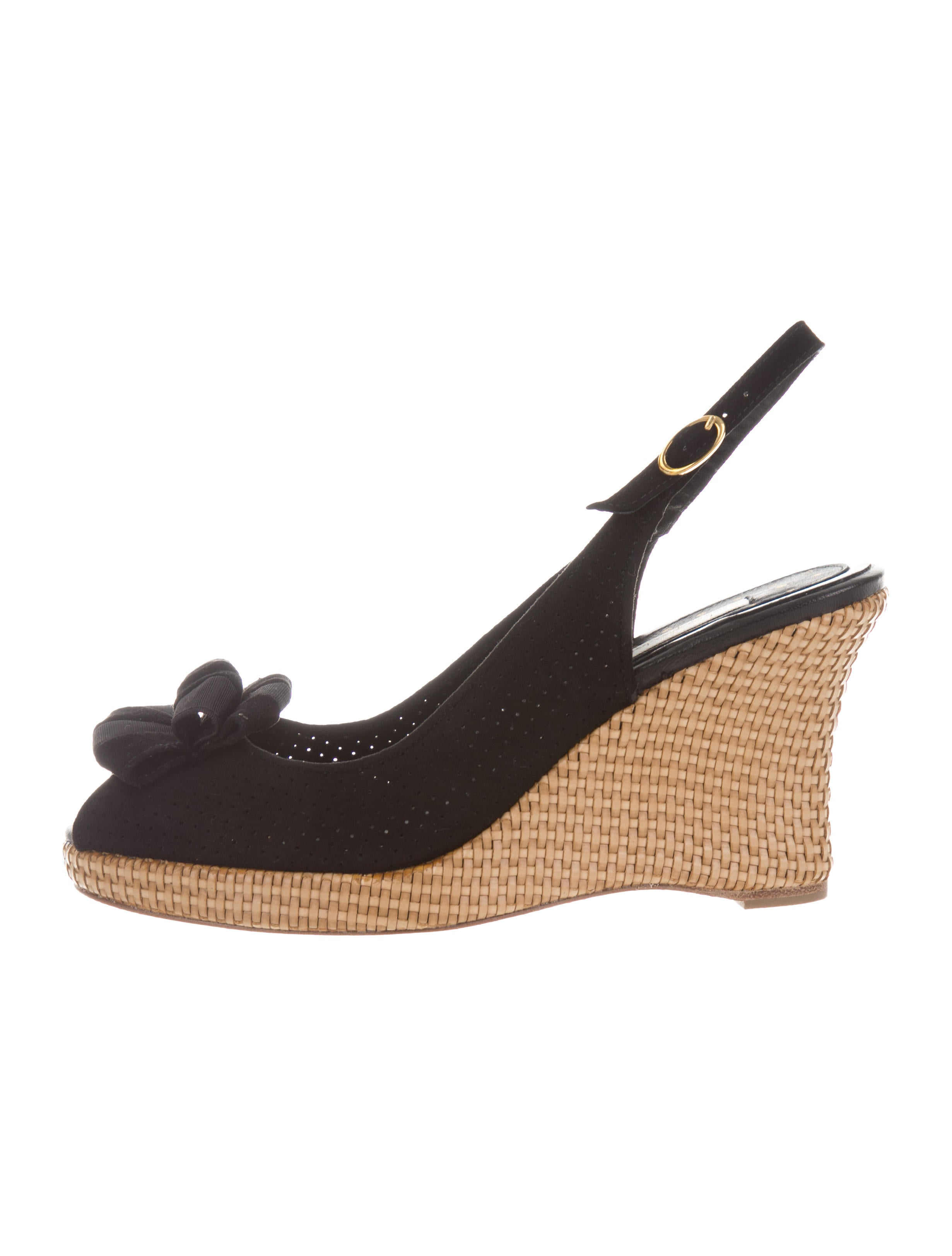 free shipping brand new unisex Lulu Guinness Suede Peep-Toe Wedges w/ Tags release dates for sale clearance shop offer on hot sale eKbbWSCsQb