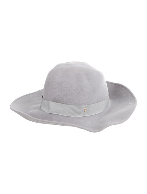 Helen Kaminski Felt Fedora Hat Grey