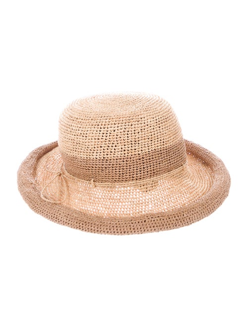 Helen Kaminski Woven Raffia Hat Tan