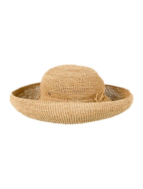 Helen Kaminski Straw Wide-Brim Hat Tan
