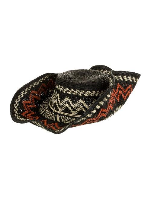 Helen Kaminski Straw Wide Brim Hat black