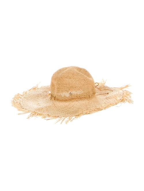 Helen Kaminski Raffia Embellished Hat Tan