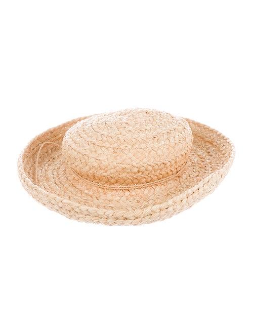 Helen Kaminski Straw Wide-Brim Hat beige