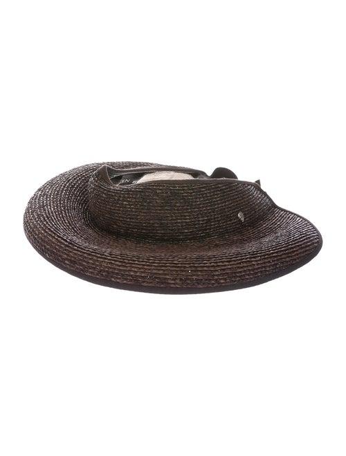 Helen Kaminski Straw Wide-Brim Hat Brown