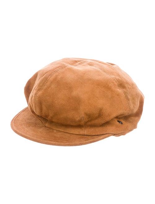 Helen Kaminski Suede Newsboy Hat Brown