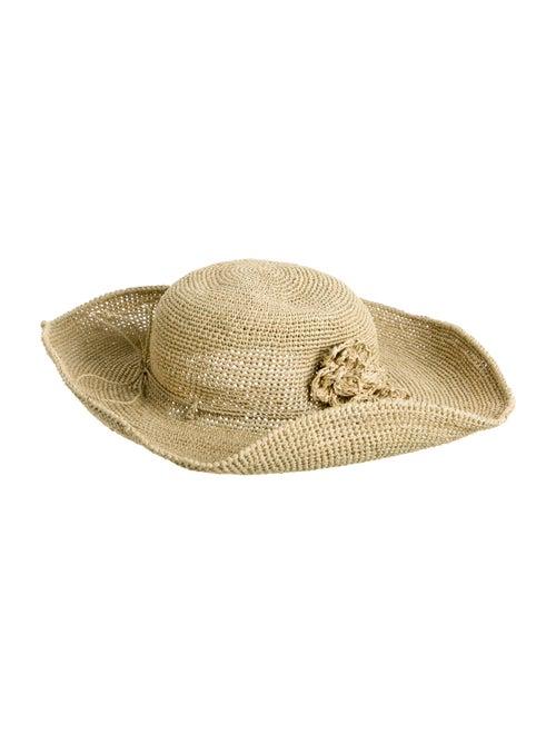 Helen Kaminski Straw Wide Brim Hat Tan - image 1