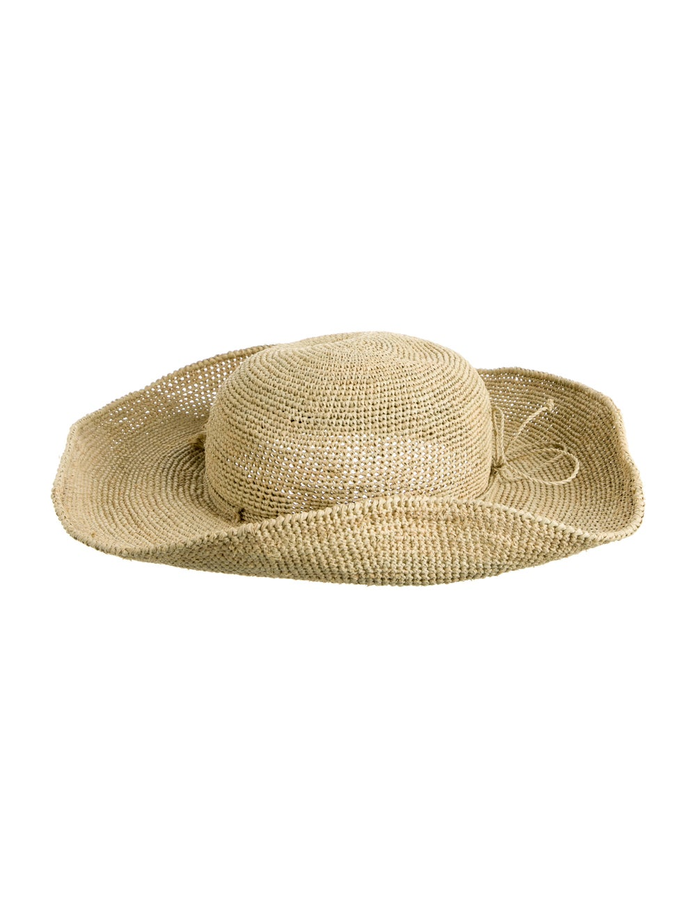 Helen Kaminski Straw Wide Brim Hat Tan - image 2