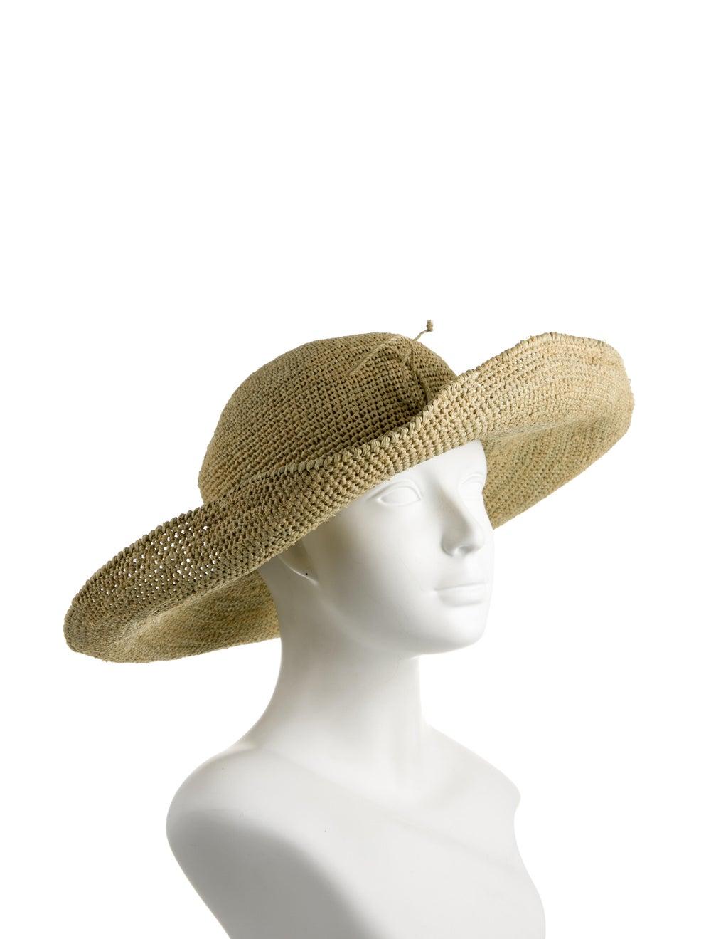 Helen Kaminski Straw Wide Brim Hat Tan - image 3