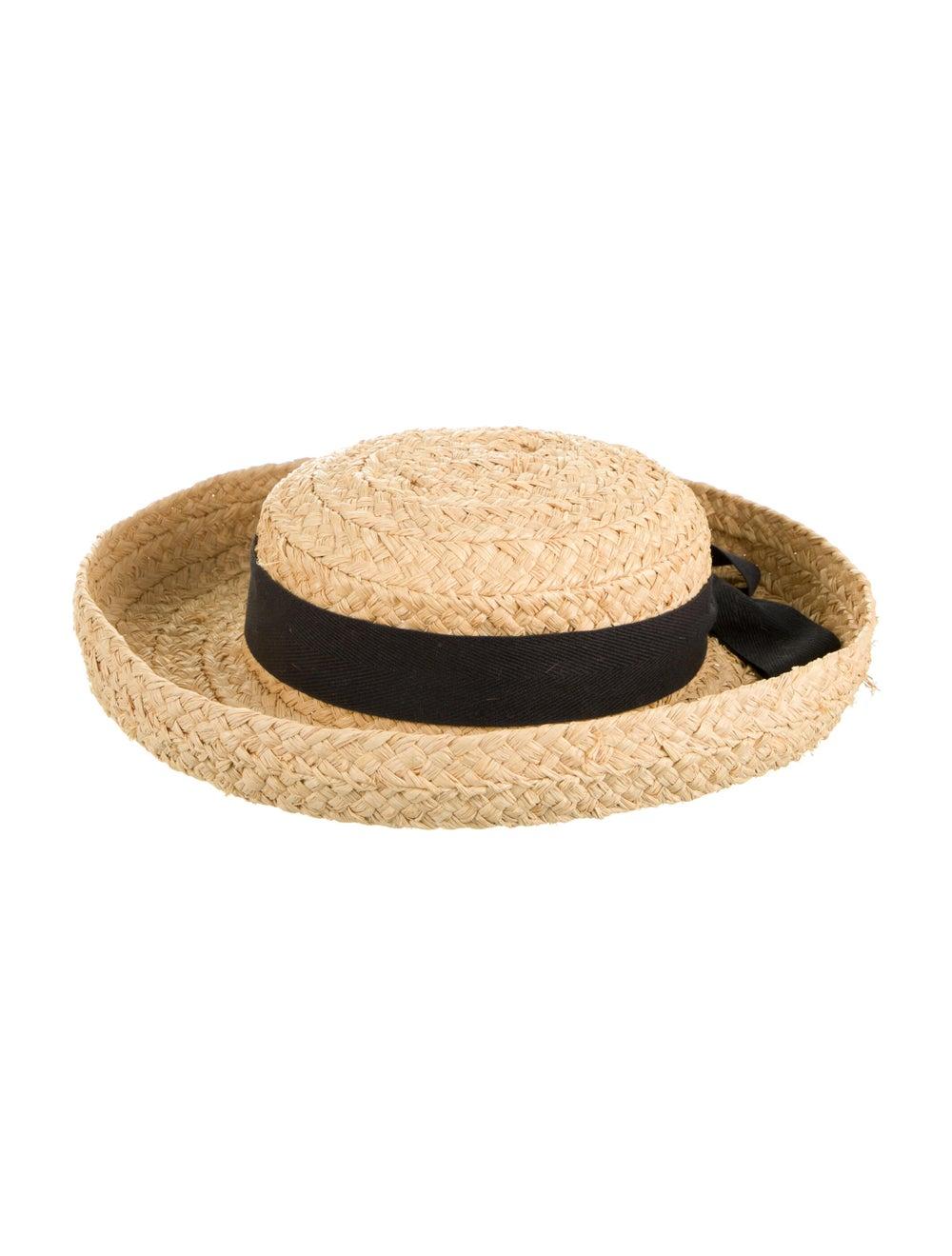 Helen Kaminski Straw Wide Brimmed Hat Tan - image 2